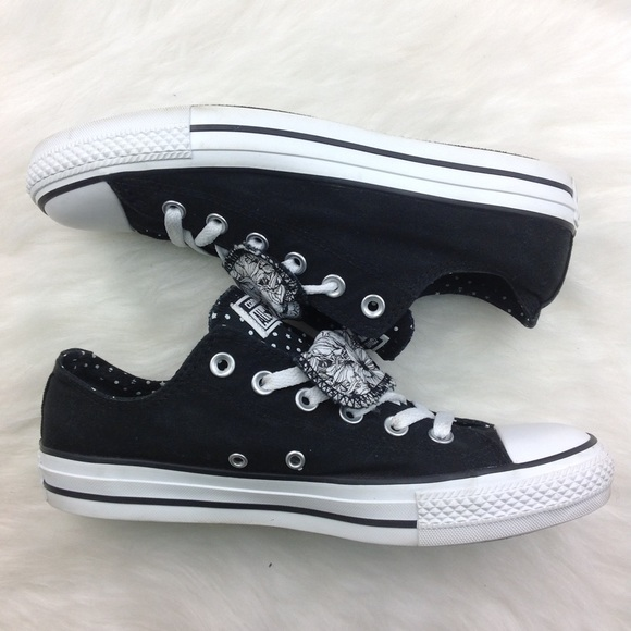 007b8d18b3d8 Converse Shoes - Convers Women s All Star Double Tongue Low Sneaker
